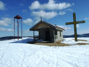 Chapel at the top of the Snowboard Park